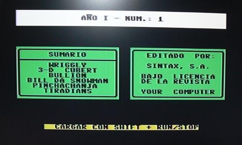 Pantalla presentación your computer 1 - Commodore