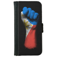 Raised Clenched Fist with Filipino Flag iPhone 6 Wallet Case
