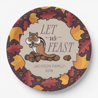 Personalized Thanksgiving Chipmunk Fall Feast