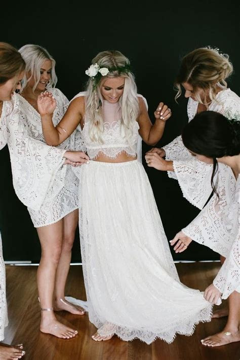 Picture Of sheer bodice and a flowy lace skirt will make