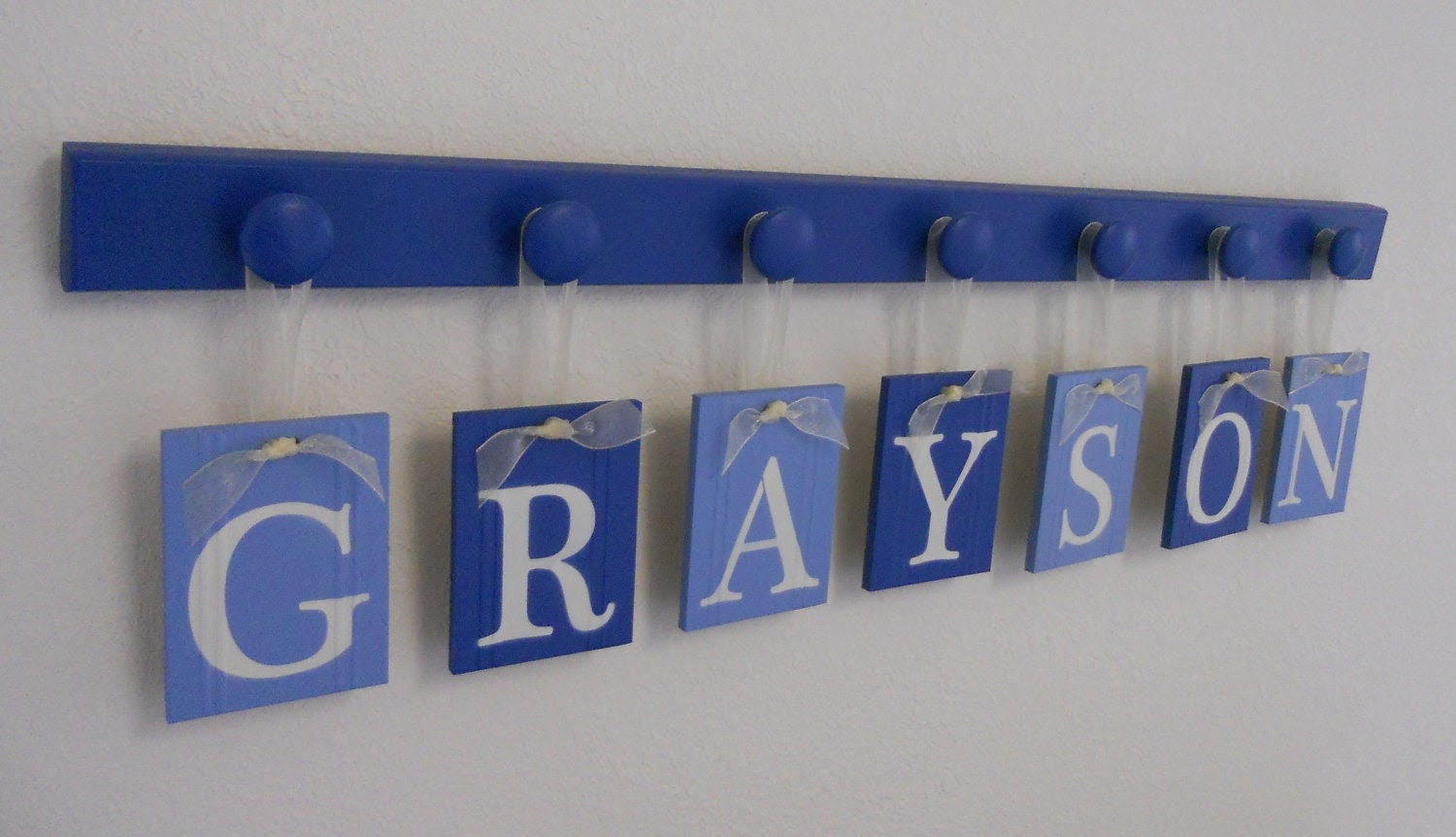 Baby Boy Nursery Decor Hanging Wall Letters Name by NelsonsGifts
