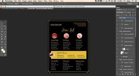 pricing list template, price list template, menu template