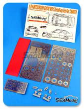 Fotograbado 1/24 Hobby Design - Mitsubishi Lancer EVO V WRC - resinas + fotograbados para kit de Tamiya TAM24203
