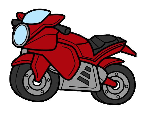 Dibujo De Moto Deportiva Pintado Por Kevinmota En Dibujosnet El Día