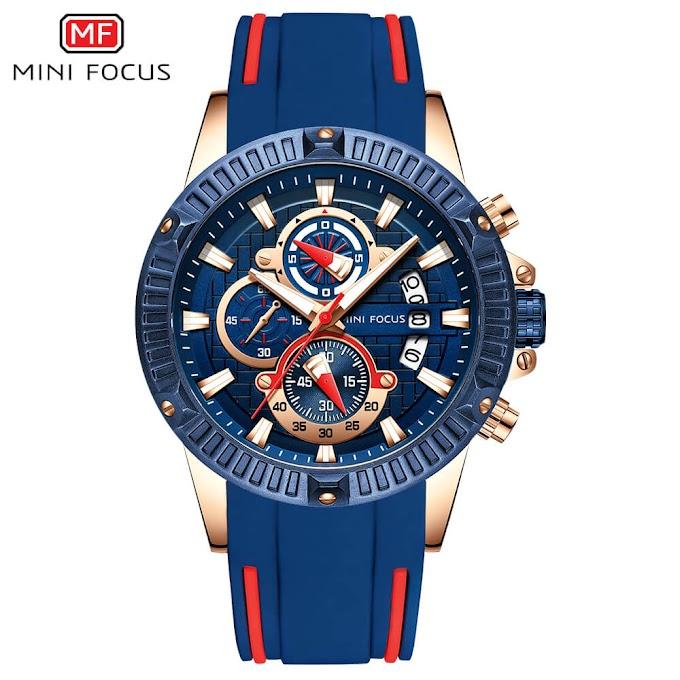 MINI FOCUS Men's Watch, Waterproof Sports Watch