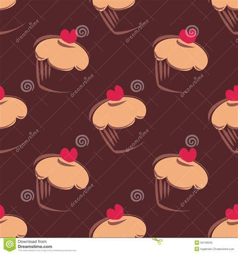 Seamless Vector Pattern Background With Big Chocol Royalty