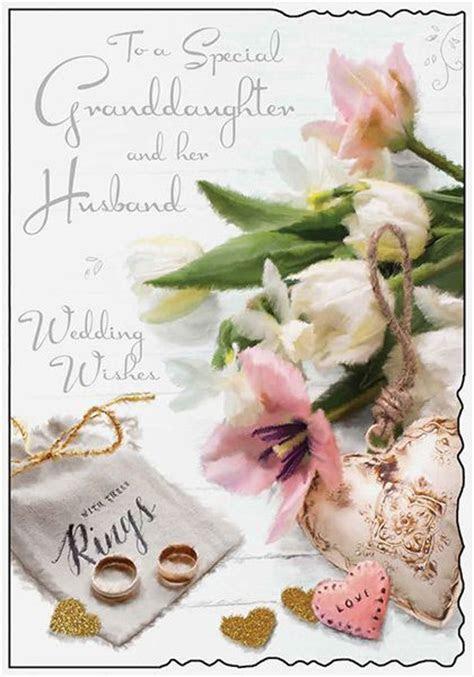 Granddaughter & Her Husband Wedding Day Card