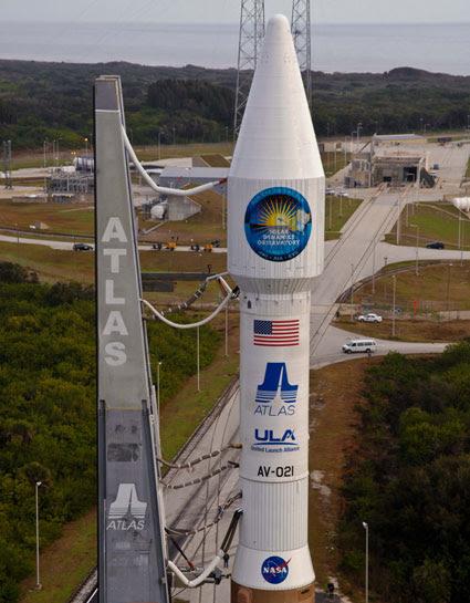 The SDO and Atlas V rocket.