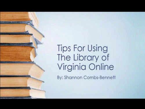 Tips and Tricks for Using the Library of Virginia Website