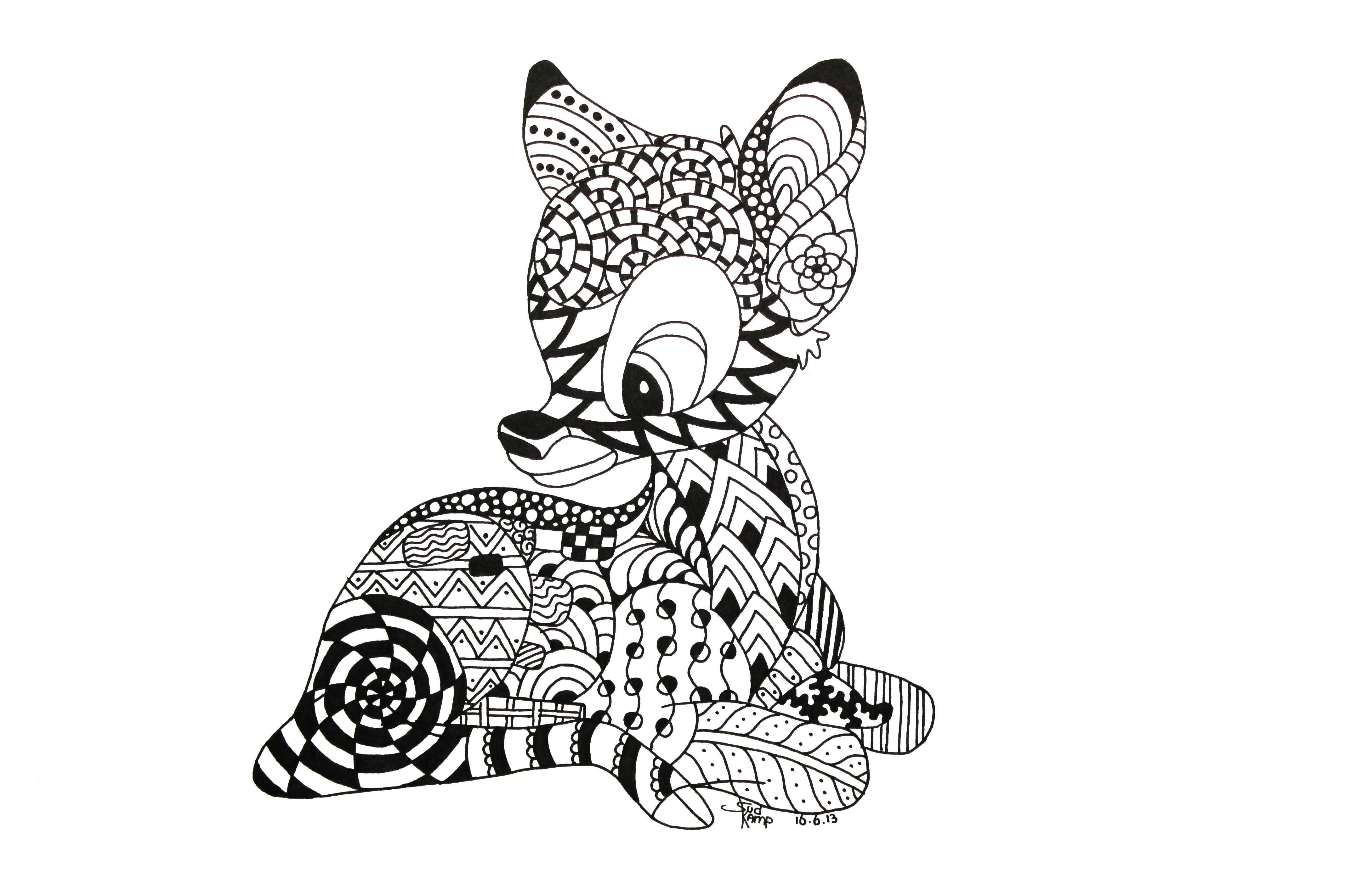 Zentangles Of Animals - ClipArt Best