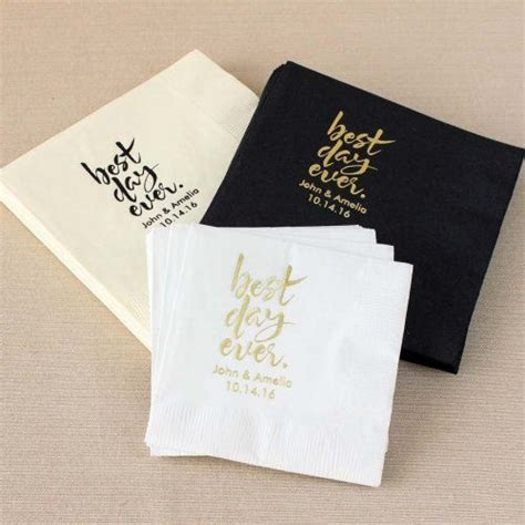 Personalized Exclusive Wedding Napkins   Bridal Shower