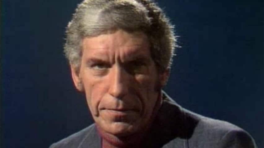 Roy Bonisteel, seen in this image from a 1972 episode of Man Alive, the CBC show he hosted from 1967 to 1989, has died at the age of 83.