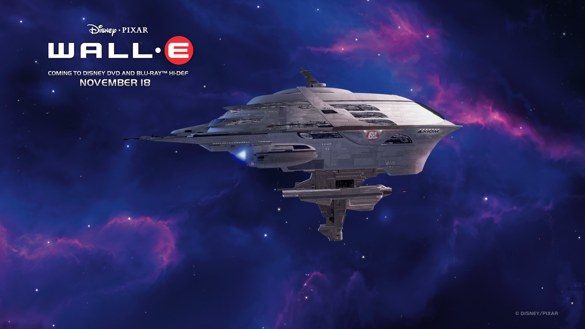 Wall E Cruise Space Ship Desktop Wallpaper