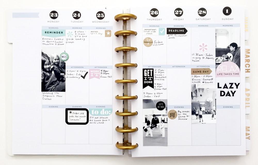 Create 365™ The Happy Planner™ | a minimalist spread — me & my BIG ...