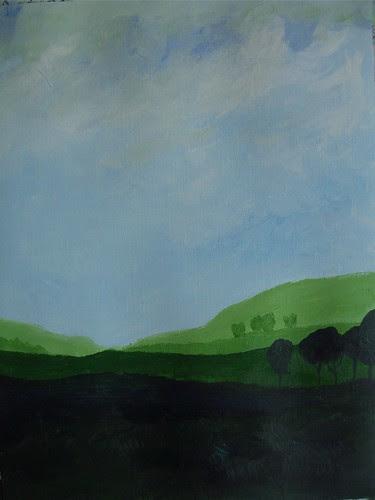 """Art practice: """"Blue Sky, Green Fields"""" (7 of 7)"""