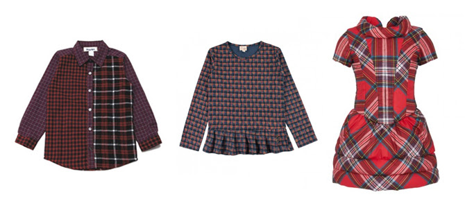tartan kids fashion