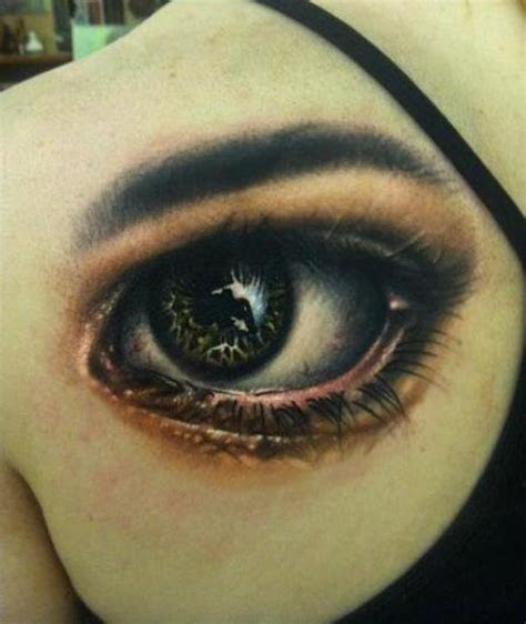 beautiful eye tattoo examples surprised