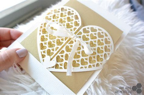 Wedding card ? heart grid envelope   free silhouette cut