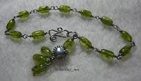 wire wrap bracelet with prehnite