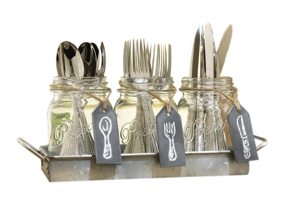 23 galvanized metal home decor accessories.