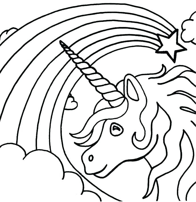 Unicorn Head Coloring Pages at GetColorings.com | Free ...