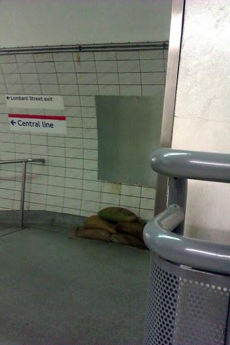 Sand Bags at Bank Tube