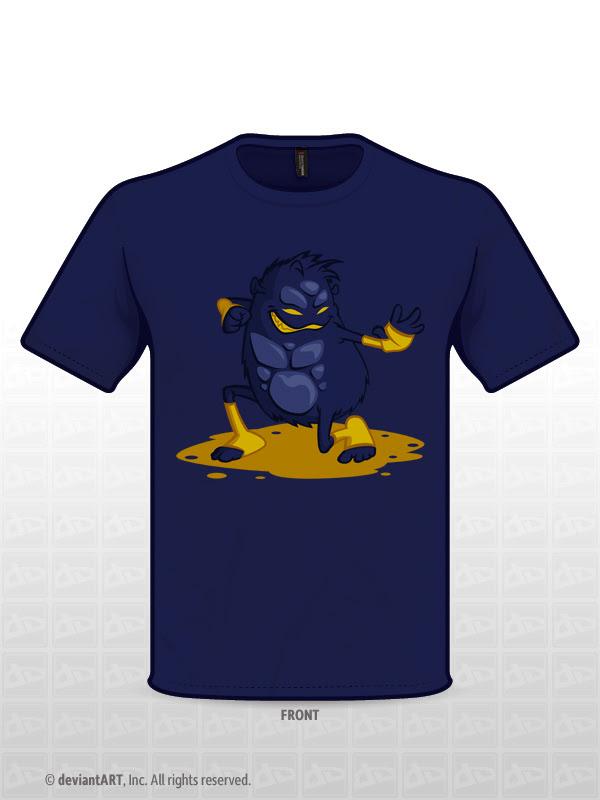 Kung-fu Monster t-shirt design