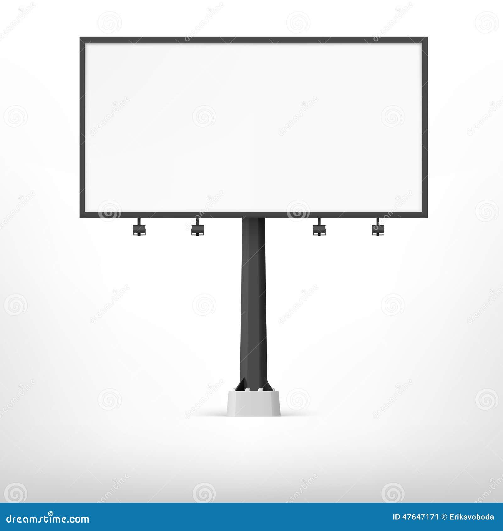 Blank Billboard Vector C Ile Web E Hukmedin