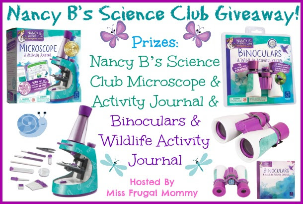 Nancy B's Science Club Giveaway. Ends 5/24.