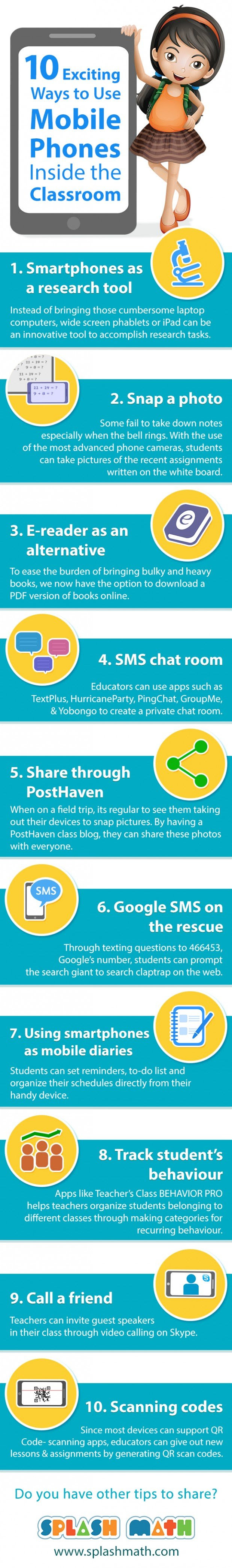10 ways to use phones in class