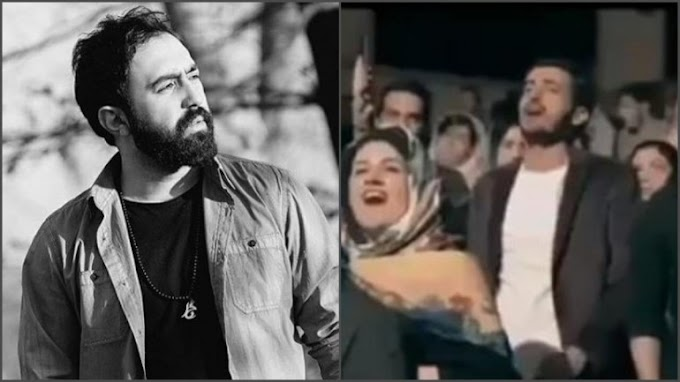 Iranian singer stops performing anti-war song at concert. Audience supports him by singing lyrics