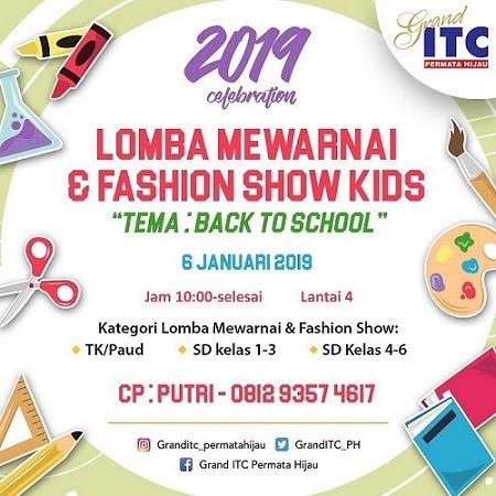 Lomba Mewarnai Fashion Show Kids Di Grand Itc Permata Hijau Kids