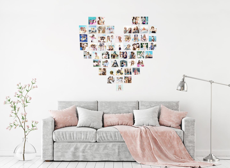 Heart Photo Wall Collage Printiki