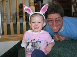 Daddy and Kimmie - Easter 2008