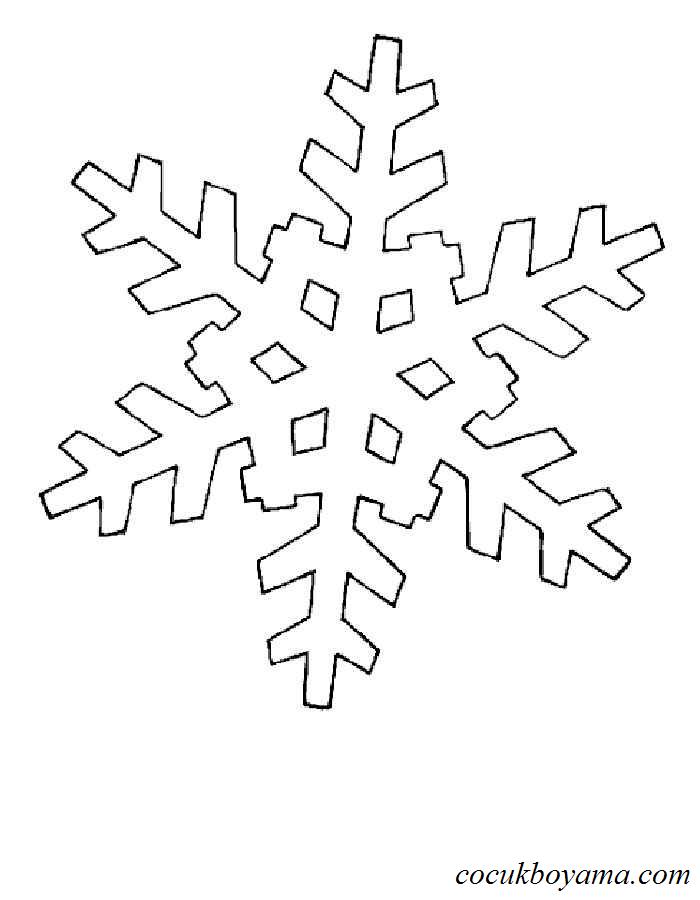Kar Tanesi 28 ücretsiz Boyama Resimleri