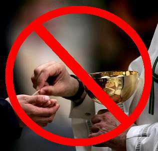 Holy Communion in hand banned
