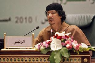 Libyan leader of the revolution Muammar Gaddafi hosting the 2010 Arab League Summit in Tripoli. by Pan-African News Wire File Photos