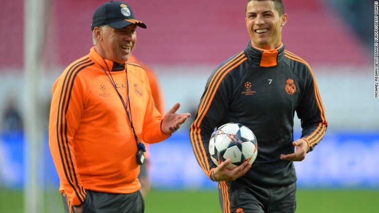 Carlo Ancelotti has largely built his success on the relationships he fosters with his players. Cristiano Ronaldo labeled the atmosphere under the Italian at Real Madrid as 'spectacular' and spoke out in his desire to keep the coach at the club.