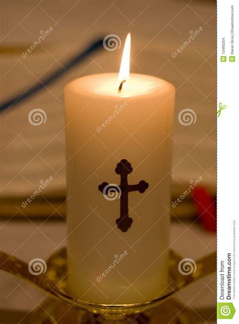Closeup Of Religious Candle Stock Images   Image: 13460204