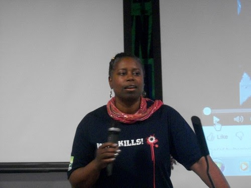 Former US Congresswoman and 2008 presidential candidate for the Green Party, Cynthia McKinney, delivered a major address in Detroit opposing the US-NATO war against Libya. The event was held on August 27, 2011. (Photo: Abayomi Azikiwe) by Pan-African News Wire File Photos