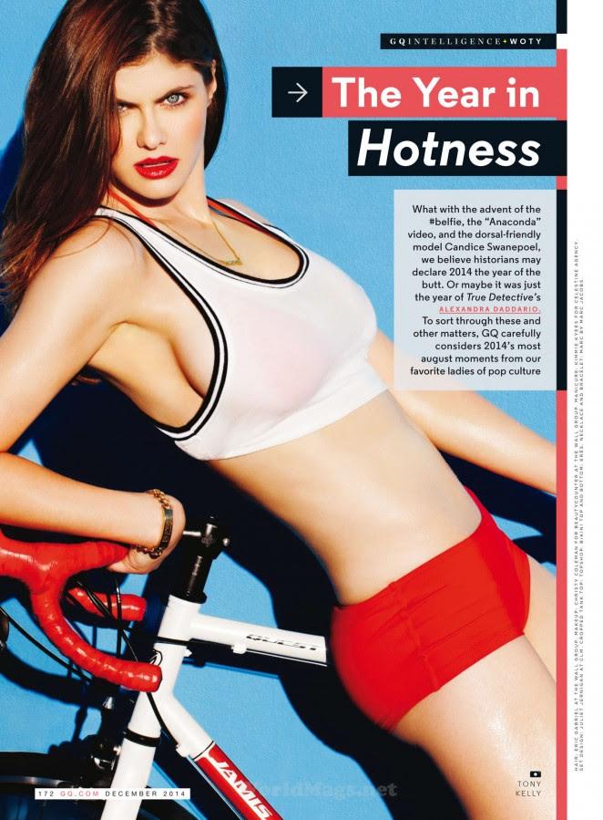 Sexy Alexandra Daddario GQ Diciembre 2014