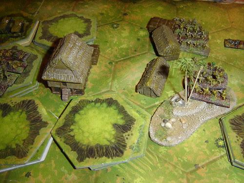 Japanese infantry assault takes village - Battle west of Lake Aztec