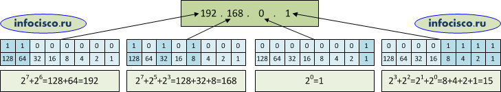 Из чего состоит IP-адрес, как считать биты
