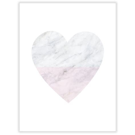 Marble heart art print   hardtofind.
