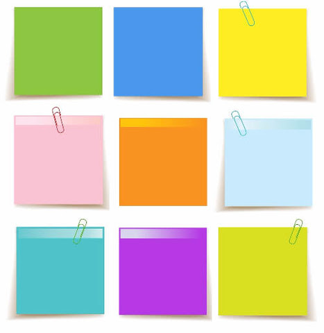 set of sticky notes template paper craft