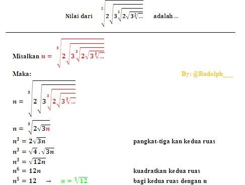 ENGINEER MUSLIM: Soal dan Pembahasan Matematika Bentuk Pangkat dan Akar