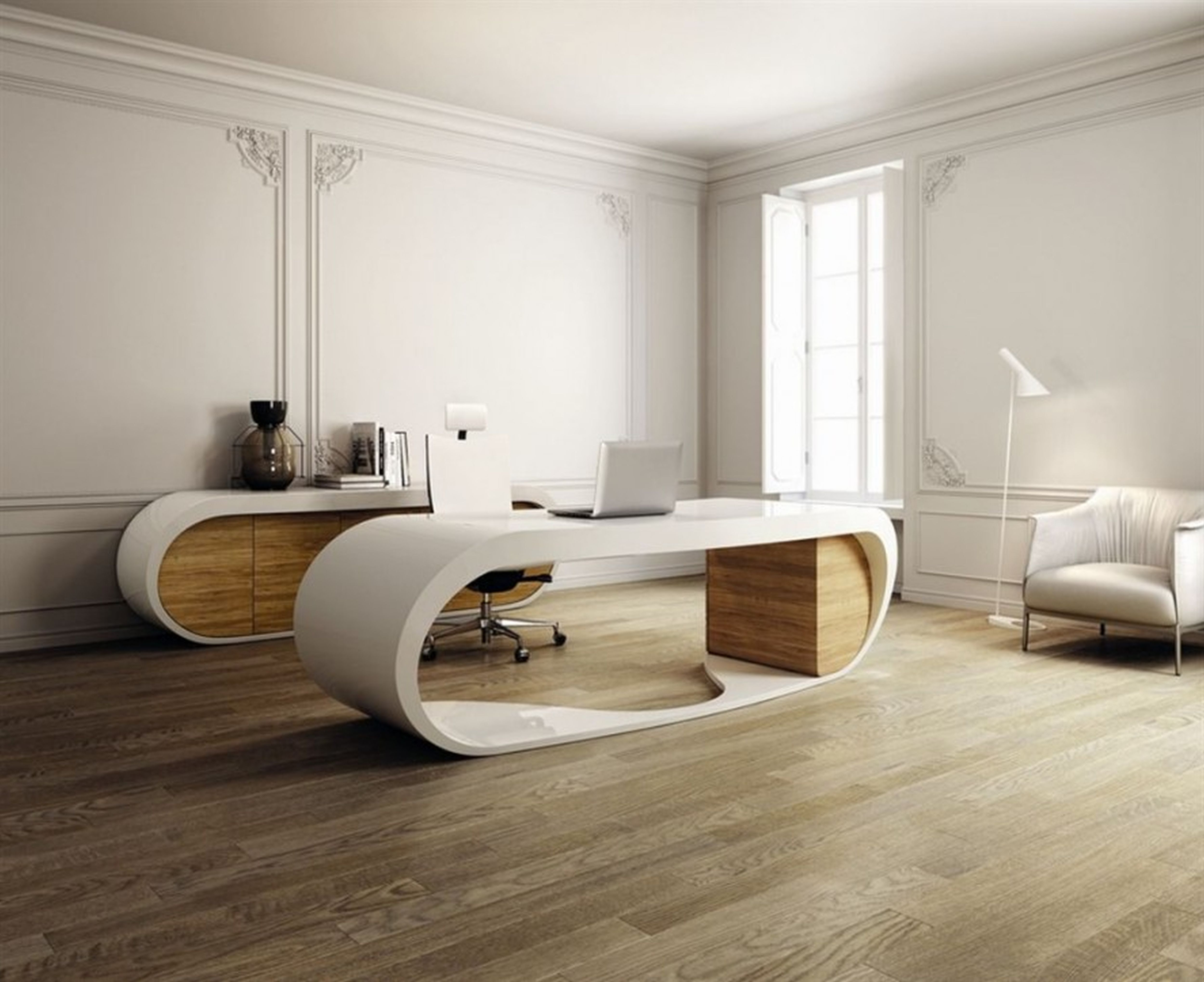 Lovely Modern Home Office Furniture (26)++ Ideas #LMHOF