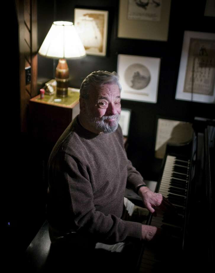 -- PHOTO MOVED IN ADVANCE AND NOT FOR USE - ONLINE OR IN PRINT - BEFORE AUG. 30, 2015. -- FILE — Steven Sondheim at his apartment in New York, Dec. 14, 2009. At its core, musical theater is about the smart, elegant and playful combination of words and music. (Piotr Redlinski/The New York Times.)