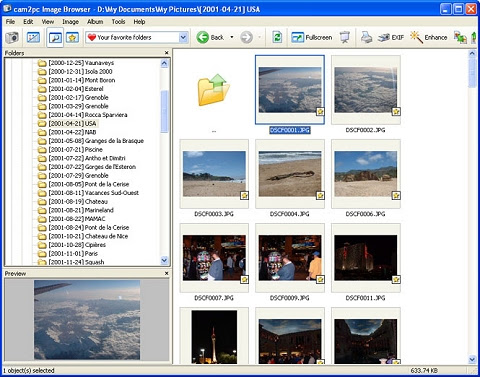 The cam2pc image browser