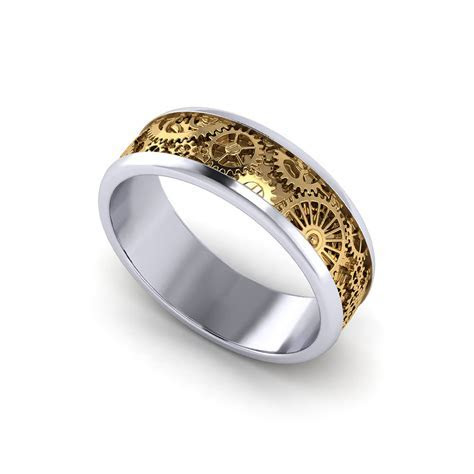 Mens Kinetic Wedding Ring   Jewelry Designs